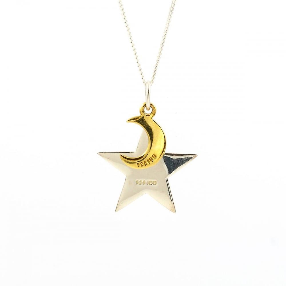 Eternity Sterling Silver 'I Love You To The Moon And Back' Pendant And 18'' Chain