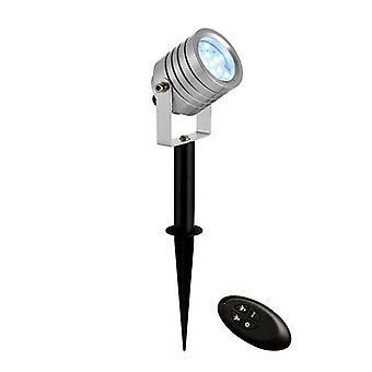 Saxby Lighting Luminatra geïntegreerde LED RGB 1 licht buiten Spike licht zilver geanodiseerd, ABS kunststof IP65 71539