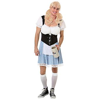 Busty Bavarian Halloween Costume, Large