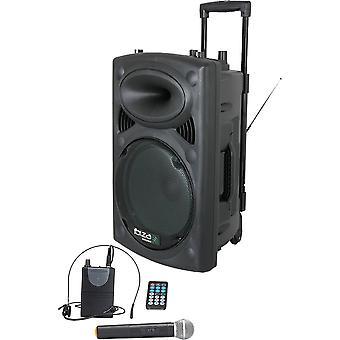 """Ibiza Sound Port15uhf-BT 15 """"draagbaar PA-systeem"""