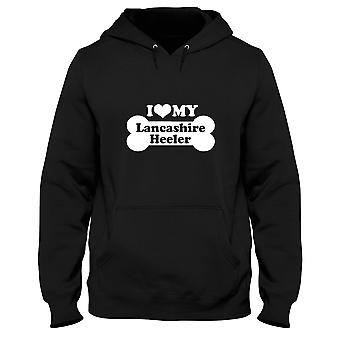 Black man hoodie fun2025 i love my Lancashire heeler