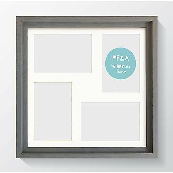 Multi Aperture Photo Frame Instagram Wall Mount Hoxton Wood Picture Collage