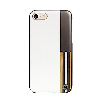 أصلي الخشب والمعادن الأبيض iPhone SE / 8 / 7 حالة