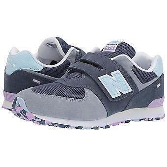 New Balance Boys 574v1 Hook and Loop Sneaker, Vintage, Grey, Size 2 Wide Infant