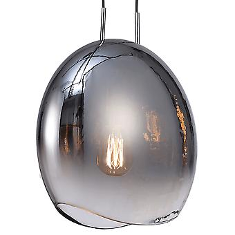 Mantra Lens 25cm Chromed Glass Pendant Light