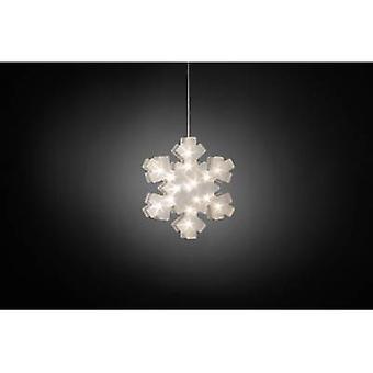 Konstsmide 2785-103 LED motif Snowflake Warm white LED (monochrome) Transparent