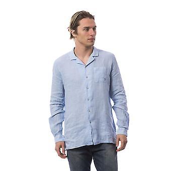 Chemises manches longues Bleu clair Bagutta homme