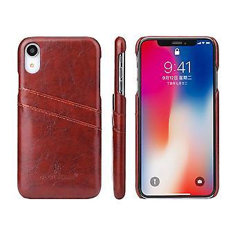 Braun Deluxe Leder für iPhone XR Fall