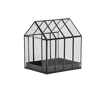 Light & Living Deco Box 24x20x26cm Berogy Glass-Black
