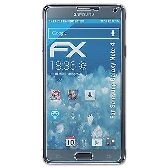 påFoliX Glass Protector kompatibel med Samsung Galaxy Note 4 Glass Protective Film 9H Hybrid-Glass