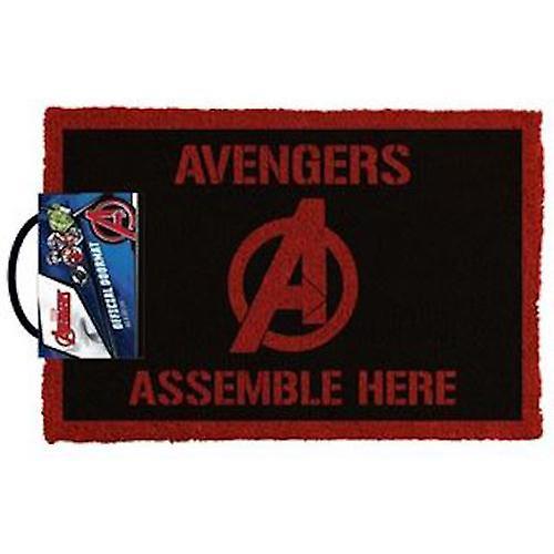 Marvel avengers - assemble here doormat
