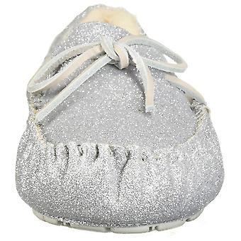 Ugg Australië Womens Dakota Sparkle lederen closed teen slip op slippers