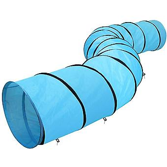 Extra Large Dog Cat Training Agility Tunnel Pet Obedience Exercise Runway 546cm,Blue
