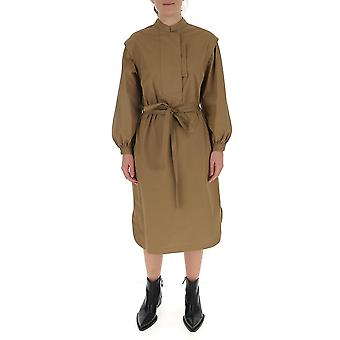 Maison Flaneur 20smddr100tc127 Women's Beige Cotton Dress
