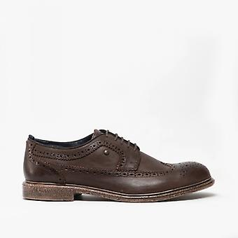 Base London Onyx Mens Leather Brogue Shoes Brown