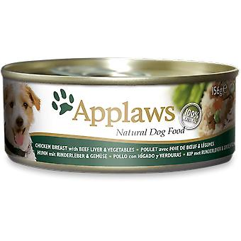 Applaws Can with Chicken, Liver of Veal and Vegetables for Dogs