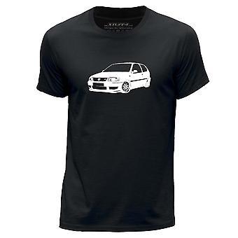 STUFF4 גברים ' s צוואר עגול חולצת טריקו/שבלונית אמנות רכב/פולו gti 6n2/שחור
