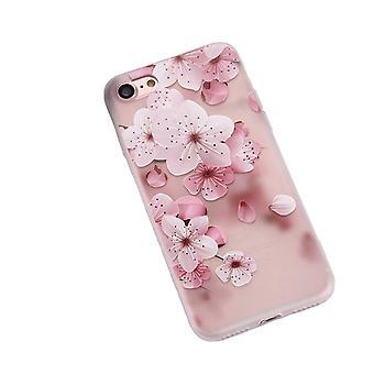 Rosa och vita blommor -skal för iPhone 8
