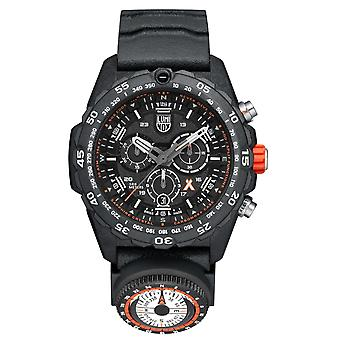 Luminox x Bear Grylls Survival MASTER 3740 Série Quartz Black Dial Rubber Strap Men-apos;s Watch XB.3741