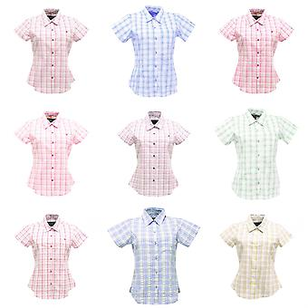 Regatta Great Outdoors Womens/Ladies Jenna Checked Short Sleeve Shirt