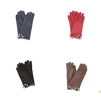 Eastern Counties Leather Womens/Ladies Gaby Faux Suede Touch Screen Gloves
