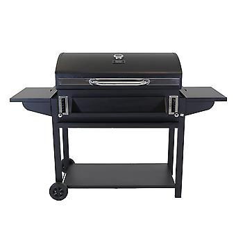 Charles Bentley Deluxe Charcoal BBQ Grill med Chrome Steel Warming Rack fantastisk til sommer BBQ's Outdoors H128 x L164 x D60cm