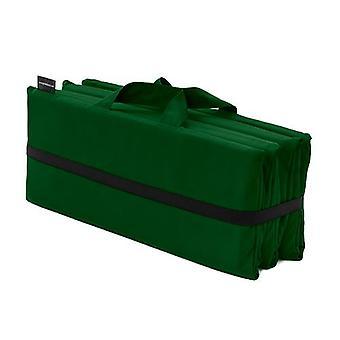 Green Reef Folding Lounger Mat Water Resistant Cushion Pad Garden Outdoor Picnic
