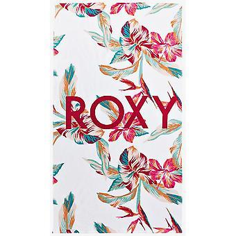 Roxy kallt vatten Beach Handduk i ljusa vita Tropic Ring S
