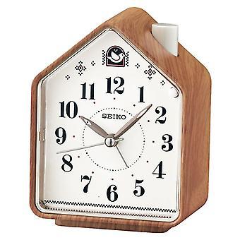 Seiko Krankenbett Signalton Alarm oder 2 Bird Songs Clock - Holzmuster (Modell QHP005A)