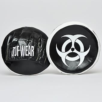 Tuf Wear Button Leather Hook and Jab Focus Pads Black / White