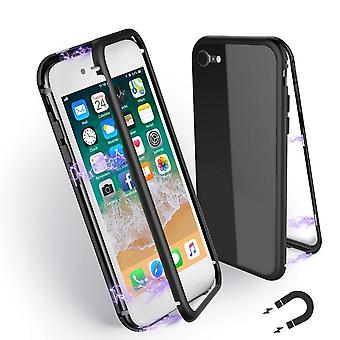 iPhone 7 / iPhone 8 magneettinen kuori - lasi / metalli