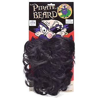 Pirate Beard. Wavy Black
