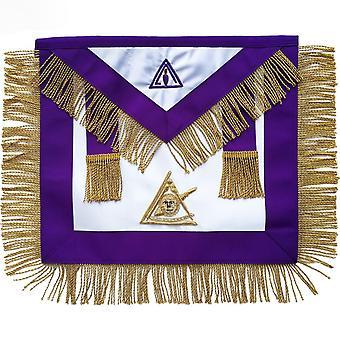 Masonic raad verleden illustere meester schort hand geborduurd