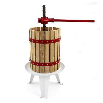 KuKoo Fruit Press Manual Cider Making Geperst Sap Zelfgemaakte Wijn 18 liter