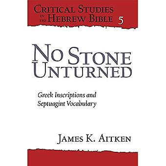 No Stone Unturned: Greek Inscriptions and Septuagint Vocabulary (Critical Studies in the Hebrew Bible)