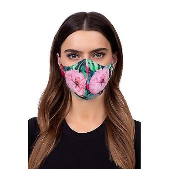 Máscara facial com perfil lavável - flores