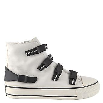Ash VIRGO Buckle Trainers White Canvas
