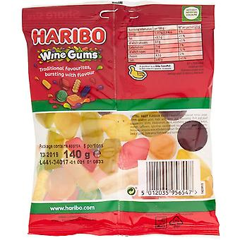 HARIBO Wine gums 1.7kg, bulk sweets, 12 packs of 140g