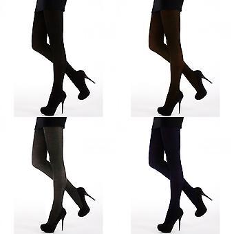 حرير النسائية/السيدات 200 منكر مظهر الصوف الجوارب (1 زوج)
