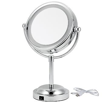 5x Magnification LED double-sided Table Mirror Essentials Makeup mirror