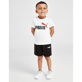 Új Puma Infant Essential Logo T-Shirt / Rövidnadrág Set White
