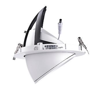 Jandei Downlight LED Basculante redondo empotrar, 30W 3100 lúmenes, Blanco Cálido 3000K, aro blanco para tienda, exposición