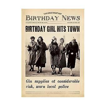 Pigment Fleet Street Birthday Girl Hits Town Card