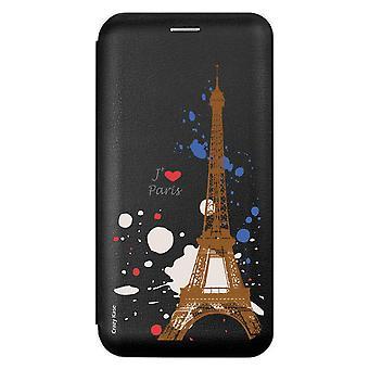 Case For Samsung Galaxy A9 (2018) Black Motif Paris