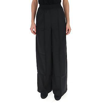 Semi-couture Y9ai01y690 Women's Black Wool Pants