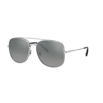 Oliver Peoples Taron OV1272S 50366I Silver/Dark Grey Gradient Mirror Sunglasses