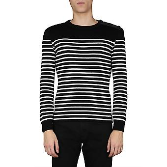 Saint Laurent 608690yamm21095 Men's Black Cotton Sweater