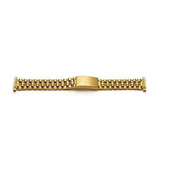 Watch bracelet gold plated 10mm-22mm pvd plated with telescopic ends