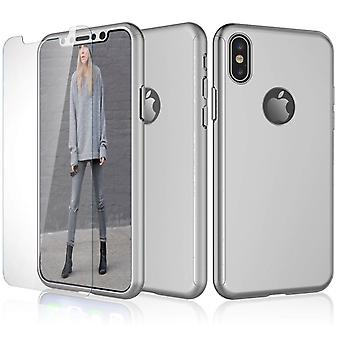 Hybrid 360 Shockproof Case Tempered Glass Cover For Apple iPhone 10 X 8 7 6s 5