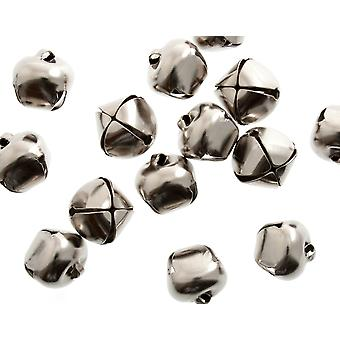 50 Silver 20mm Jingle Bells for Crafts